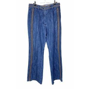 Blue Willi's Wide Leg Lagenlook Boho Denim Jeans